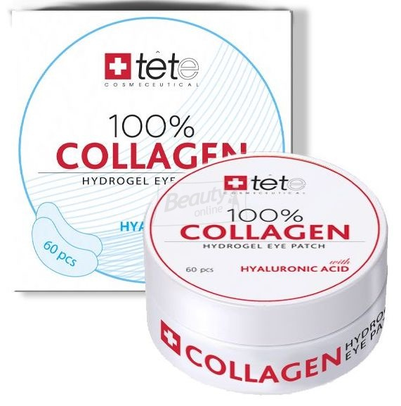 TETe Cosmeceutical 100% Collagen Hydrogel Patch Патчи под глаза Гидро Коллагеновые 60 шт