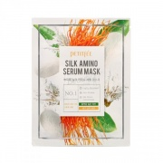 Petitfee  Silk Amino Serum Mask Маска для лица с протеинами шелка 25 г-10 шт